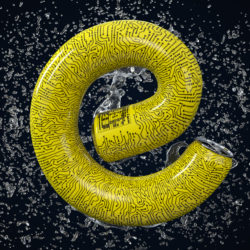 OH37 Letter E can energy drink FMCG image creation 3D