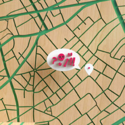 OH37 3D location market close up lost in a city