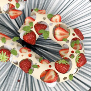 OH37 Creative food visual letter G in 3D