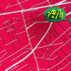 OH37 Letter L Lost in a location with red 3D background