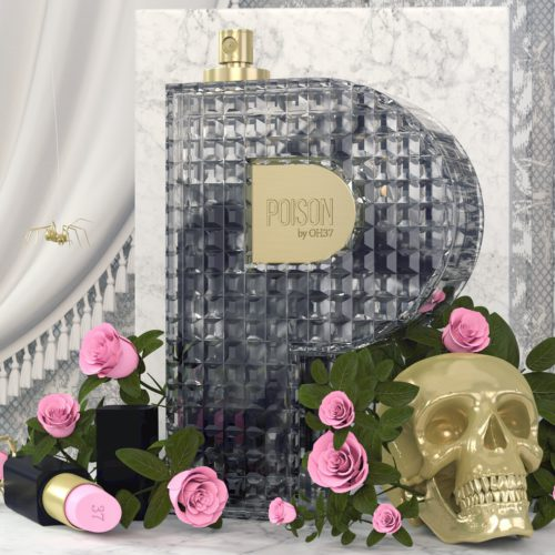 OH37 P is for poisn perfume with black smoke