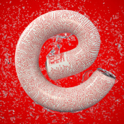 OH37 letter E for energy creative 3d art direction for a soda can