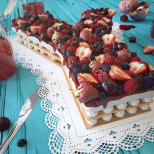 OH37 letter Y for yummy straberry and berry desert 3D visual
