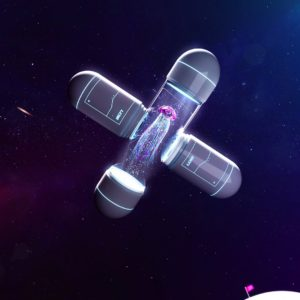 OH37 typography X in space 3D visual